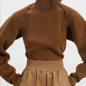 NWT Frankie Shop Knit shrug set in spice